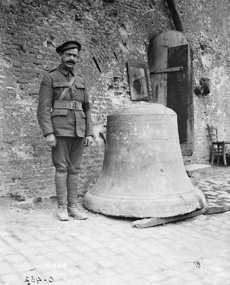 The bell of St. Peter's Church, Ypres. August, 1916. (item 1)