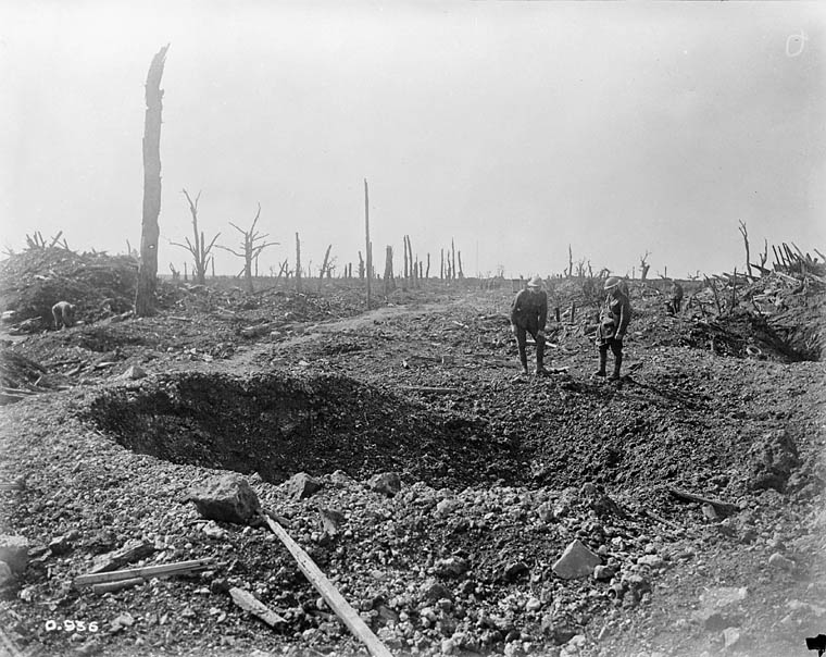 One of the roads to Bapaume.  [Battles of the Somme]. (item 1)
