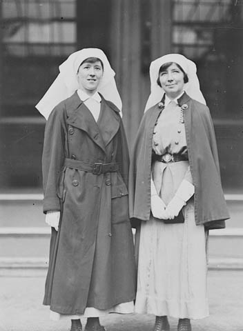 Nursing Sister Guilbride, R.R.C. (right) and Nursing Sister E. McLeod, R.R.C. (item 1)