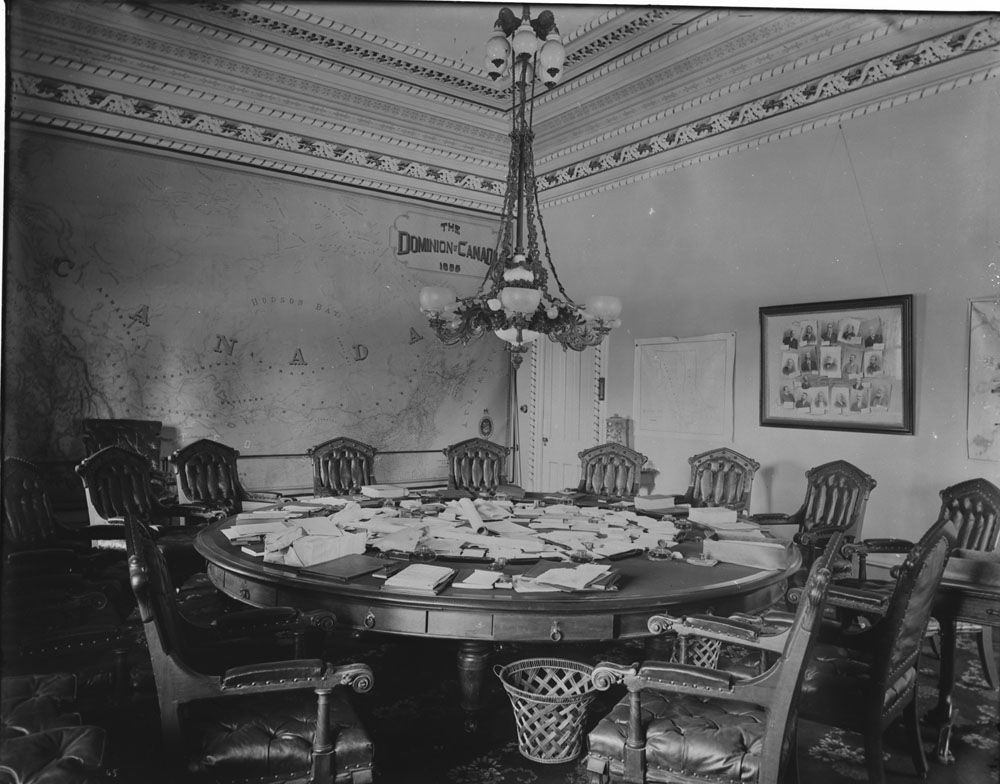 Photo of the Privy Council Chamber, Parliament Buildings, after 1886