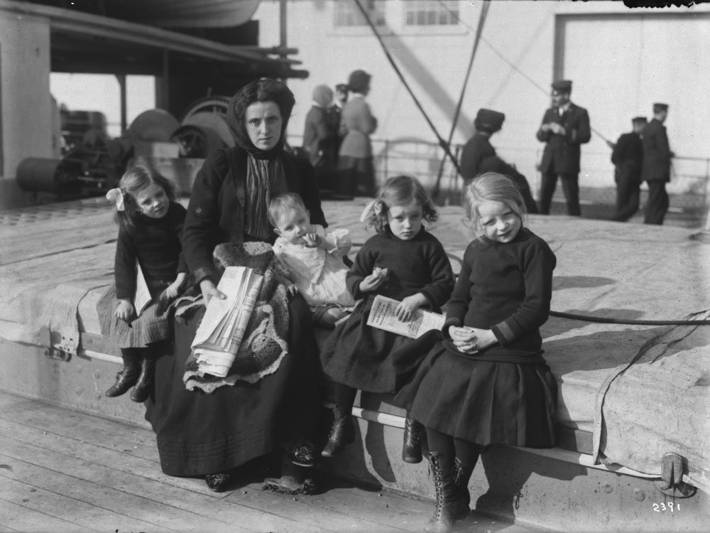 Immigrant family upon arrival from Scotland. (item 3)