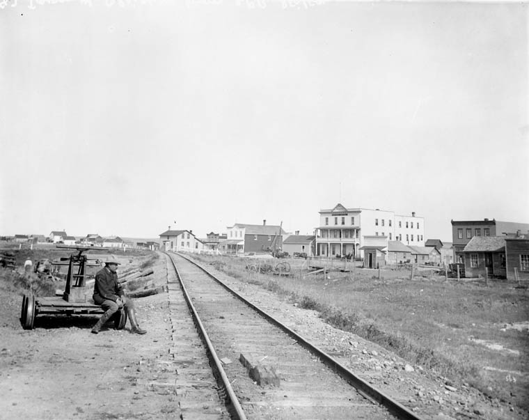 View of Gleichen, from C.P.R. (Canadian Pacific Railway) station - (No.) 87 (C.P.R. (Canadian Pacific Railway)) (item 1)