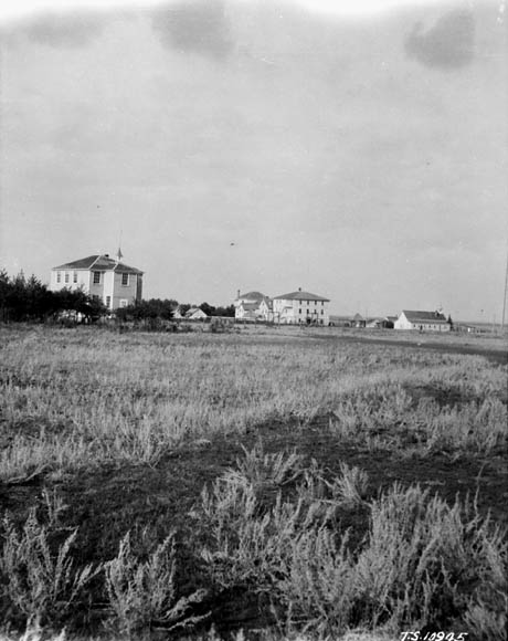 Prince Albert Indian Residential School, Lac La Ronge, distant view, 1926