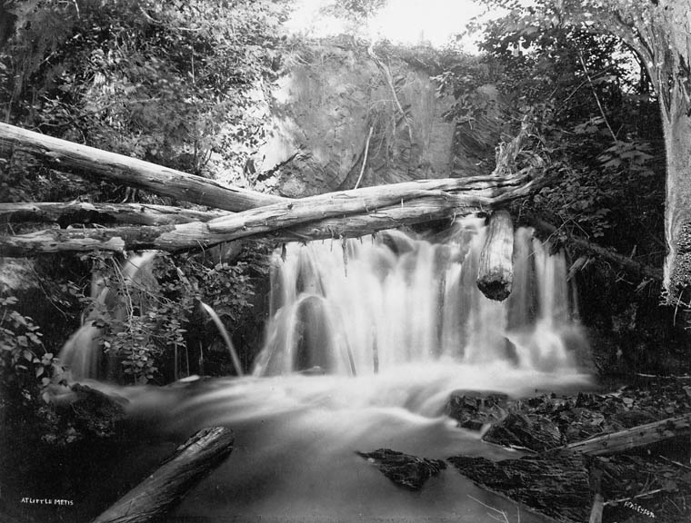 waterfall, Quebec, 1875