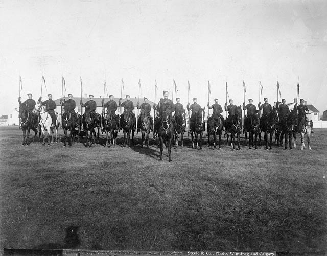 """Troop Front.""  Canadian Mounted Rifles with Second Contingent South Africa. (item 1)"