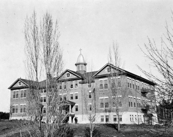 Kuper Island Indian Residential School, exterior view, date unknown