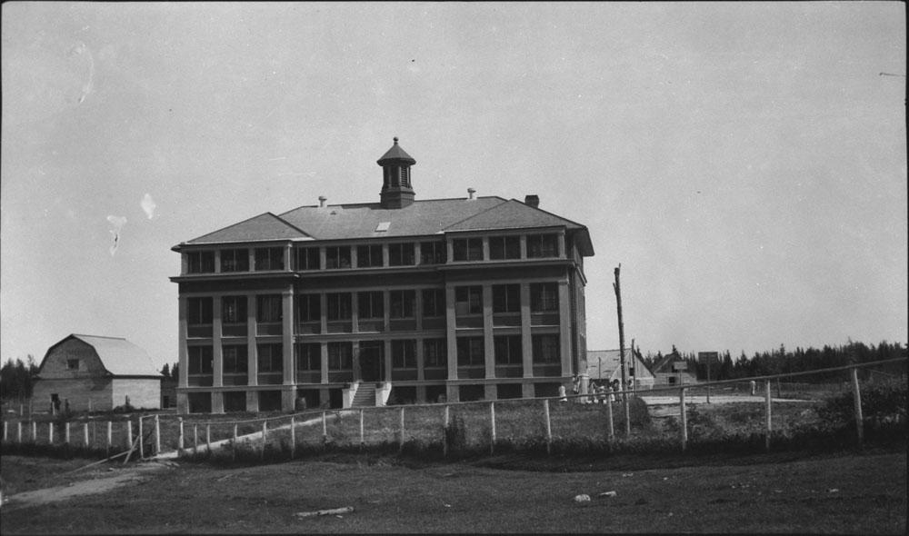 Pensionnat indien de Norway House, vue de la façade, vers 1920-1930
