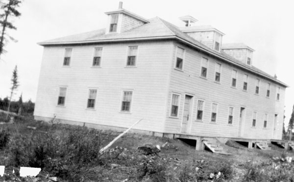 Aklavik Roman Catholic Indian Residential School, (Inuvik Indian Residential School) exterior view, date unknown