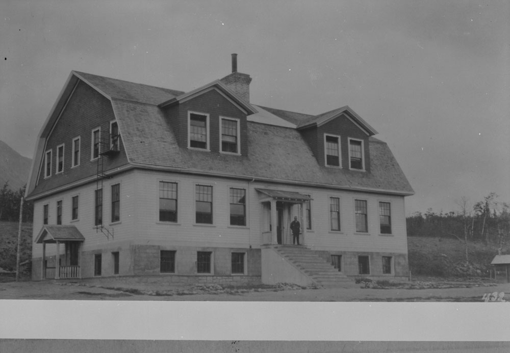 Carcross Indian Residential School (Chooulta), exterior view of school, unknown date