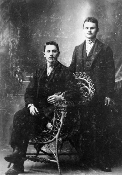 Meraslaw Stecheshin [standing] (other person unidentified), San Francisco. (item 1)