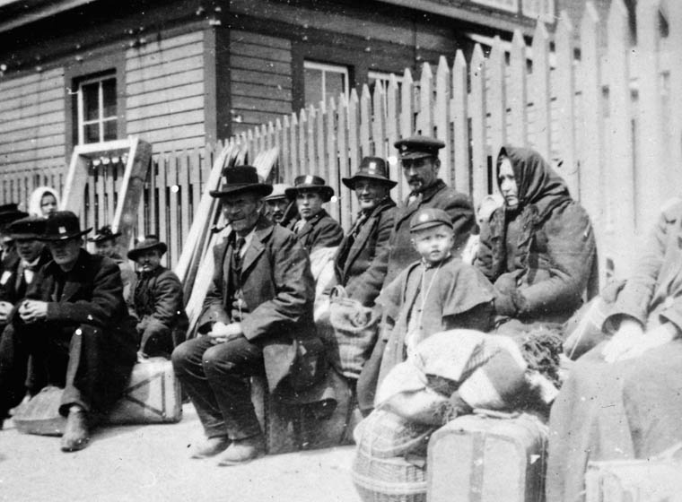 Immigrants awaiting medical examination. (item 1)