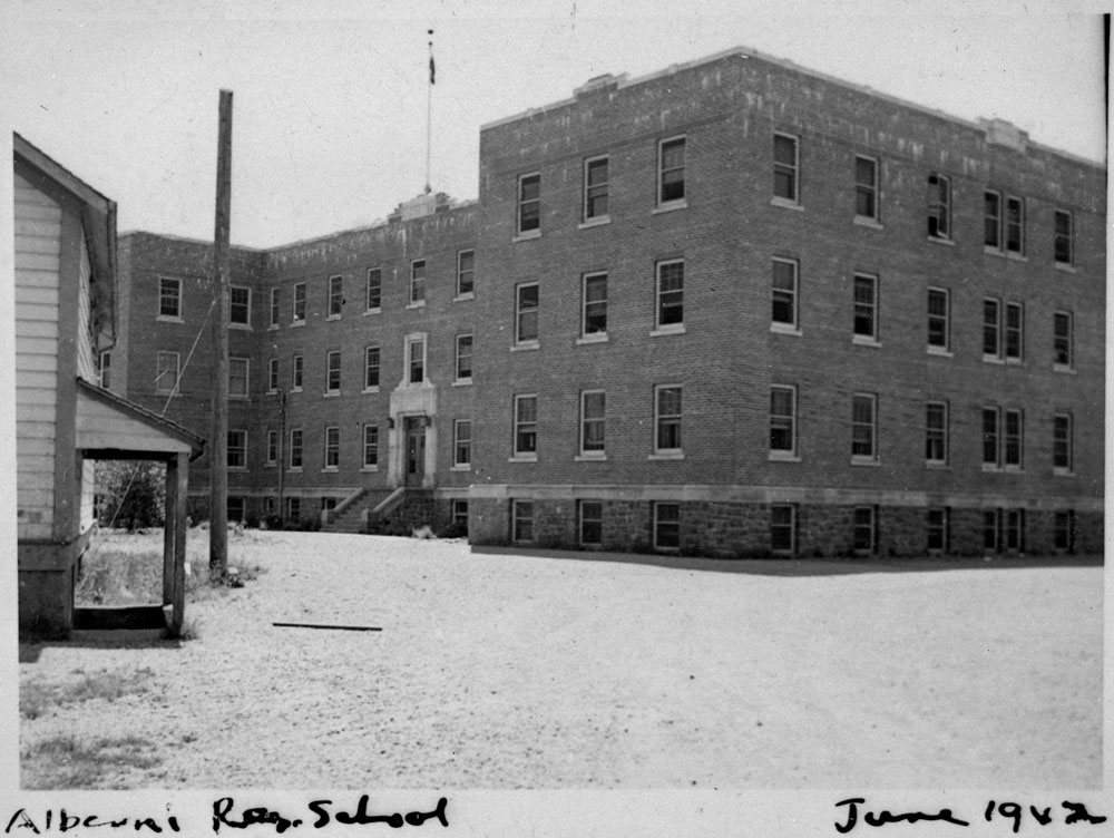 Alberni Indian Residential School, exterior view, Port Alberni, June 1942