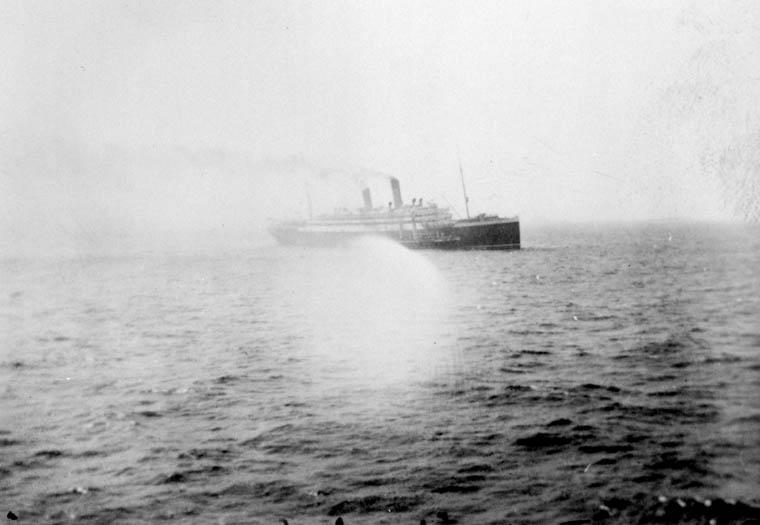 EMPRESS OF IRELAND at sea. (item 1)