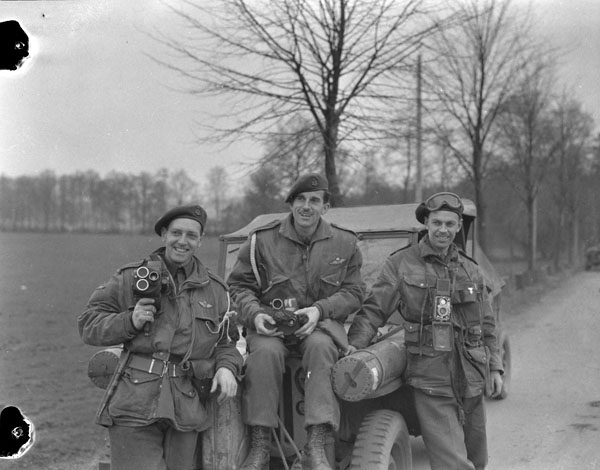 Photographers of the Canadian Army Film and Photo Unit attached to the 1st Canadian Parachute Battalion. (item 1)
