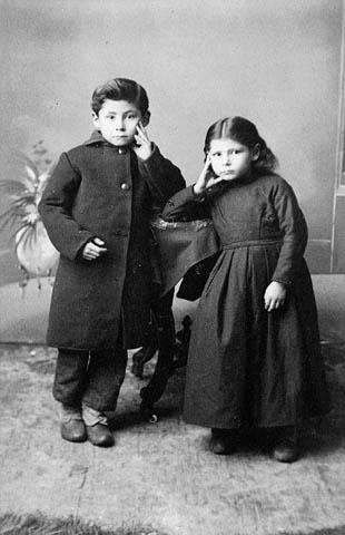 Jean-Louis et Marie-Angélique Riel vers 1888