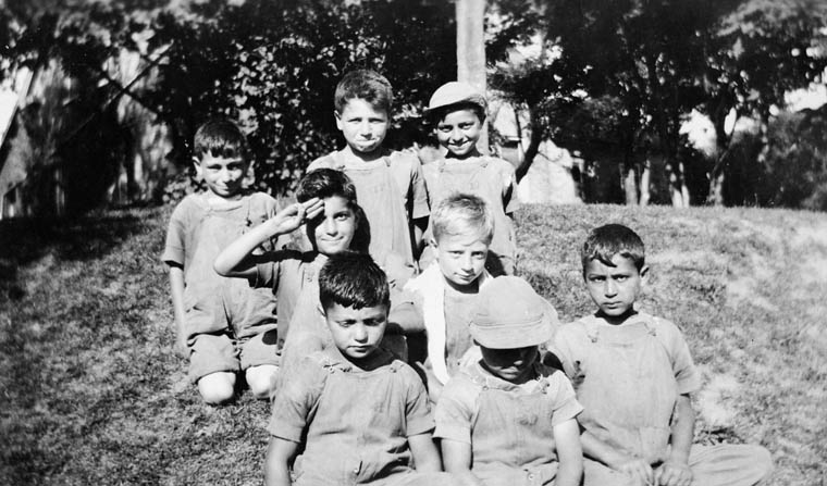 Armenian Boys' Farm: group of eight young boys. (item 1)