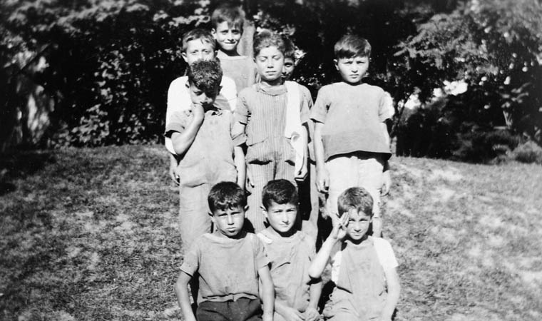 Group of pupils at the Armenian Boys' Farm Home. (item 1)