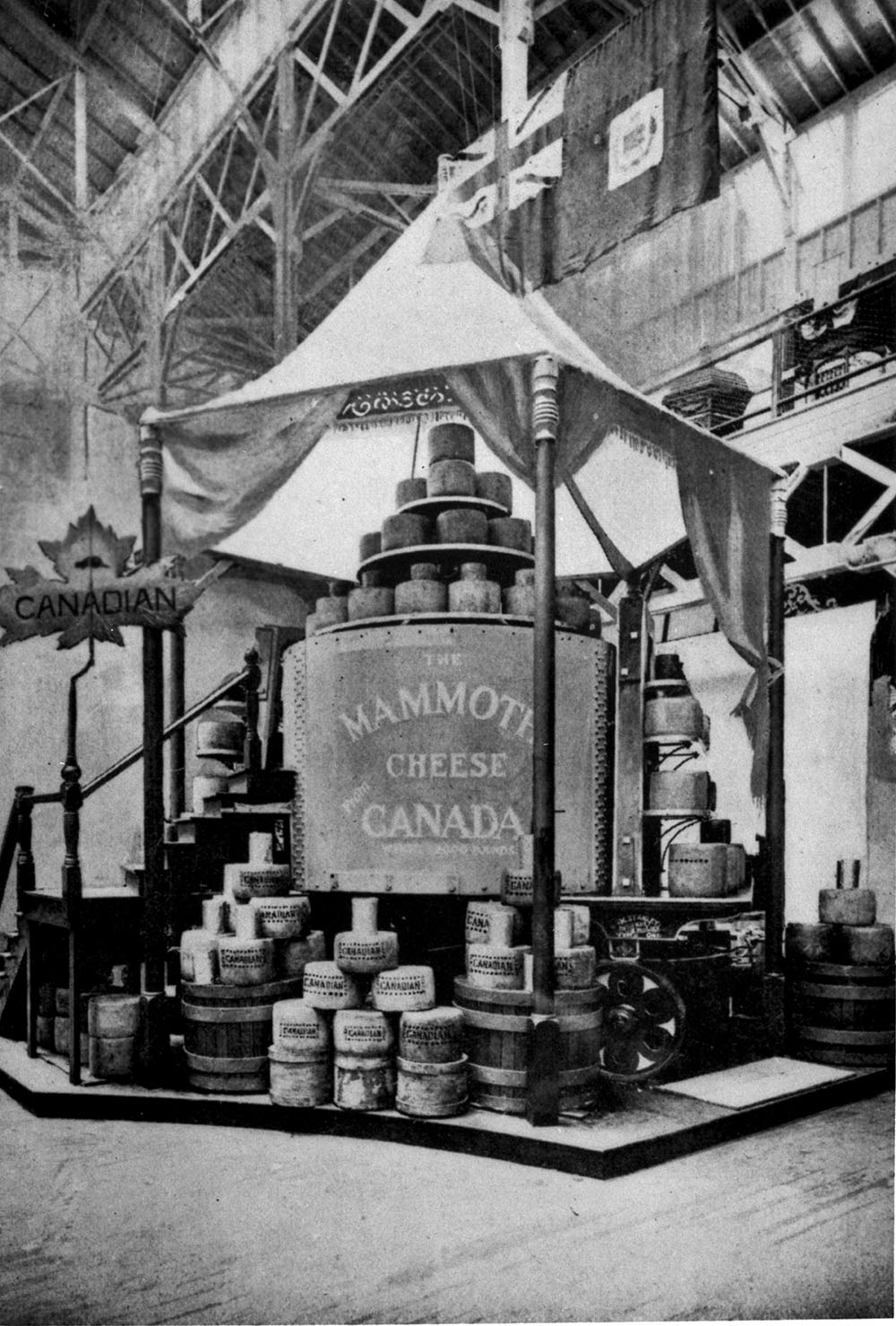 Mammoth Cheese leaving Perth en route to the World's Columbian Exposition at Chicago. (item 1)
