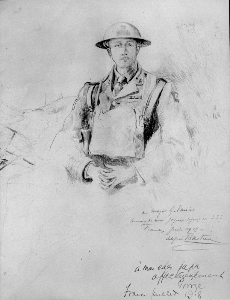 Sketch of Georges Phileas Vanier by Alfred Bastien