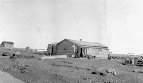 Shingle Point Indian Residential School (St. John's Anglican Mission), distant view of school and surroundings, 1930