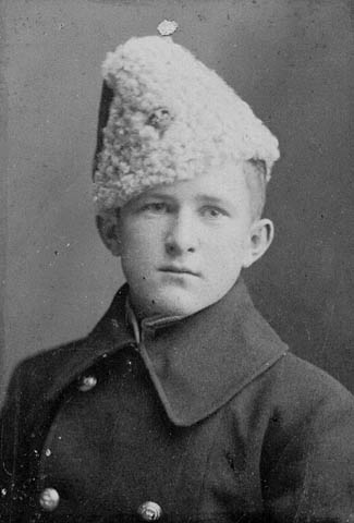 Portrait de William A. « Billy » Bishop lorsqu'il était cadet au Collège militaire royal à Kingston. (item 1)