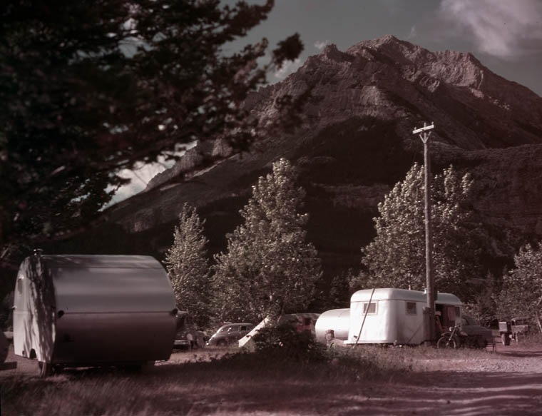 Trailer Camp in Waterton Lakes. (item 1)