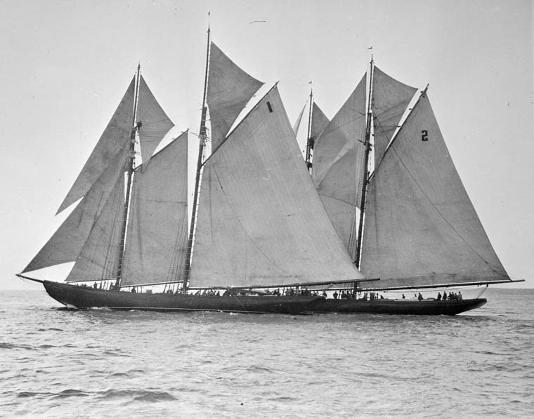 "International Fishing Schooners, ""Bluenose"" in the lead. Nova Scotia. (item 1)"