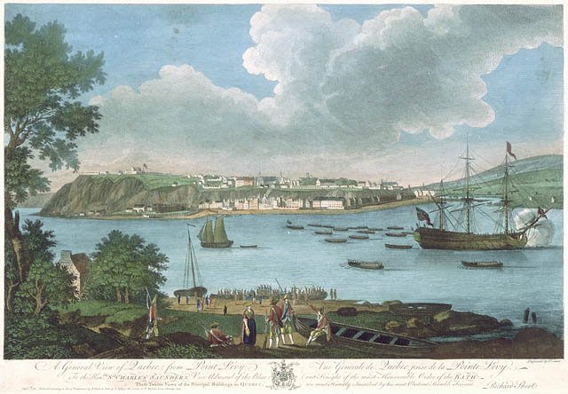 A General View of Québec, from Point Lévy, by Richard Short, September 1, 1761. CA ANC C-000355