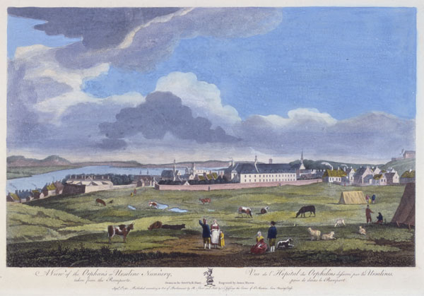 A view of the Orphan's or Urseline Nunnery, taken from the Ramparts by Richard Short, September 1, 1761  CA ANC C-000358
