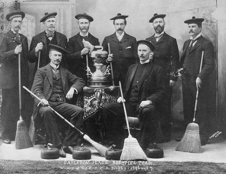 Carleton Place Bonspiel Team, winners of the C.C.C.A. trophy - 1896-7. (item 1)