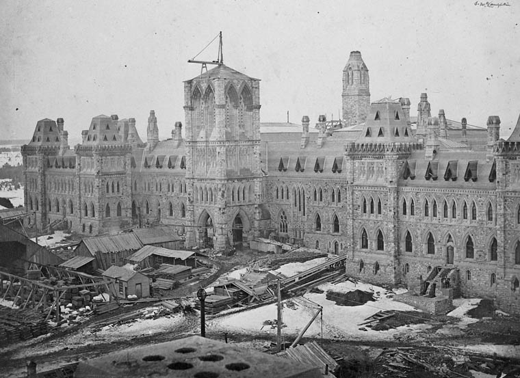 Centre Block, Parliament Buildings under construction. (item 1)