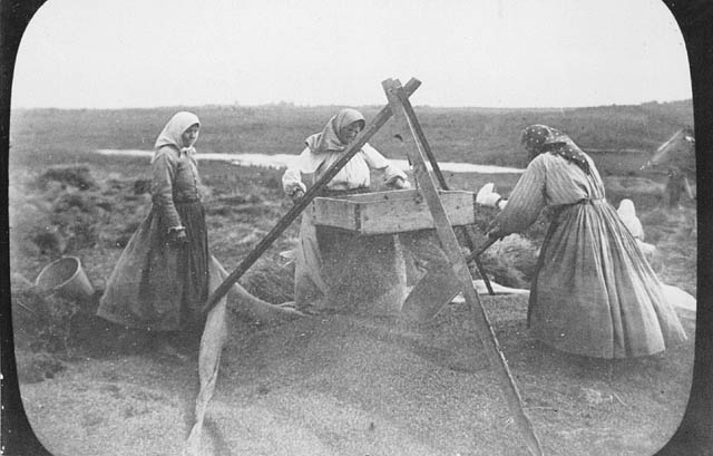 Doukhobor women winnowing grain. (item 1)