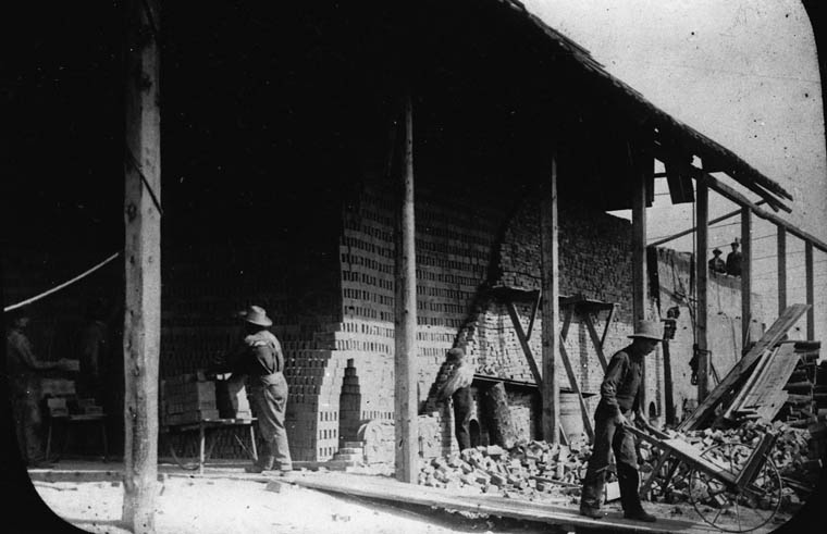 Communal brickyard and brick factory at Veregin, Saskatchewan. (item 1)