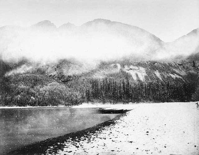 In the heart of the Rocky Mountains: A snowstorm, by Charles Horetzky