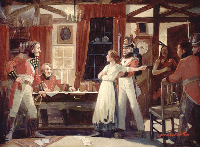 Rencontre entre Laura Secord et le lieutenant Fitzgibbon, juin 1813. (item 1)
