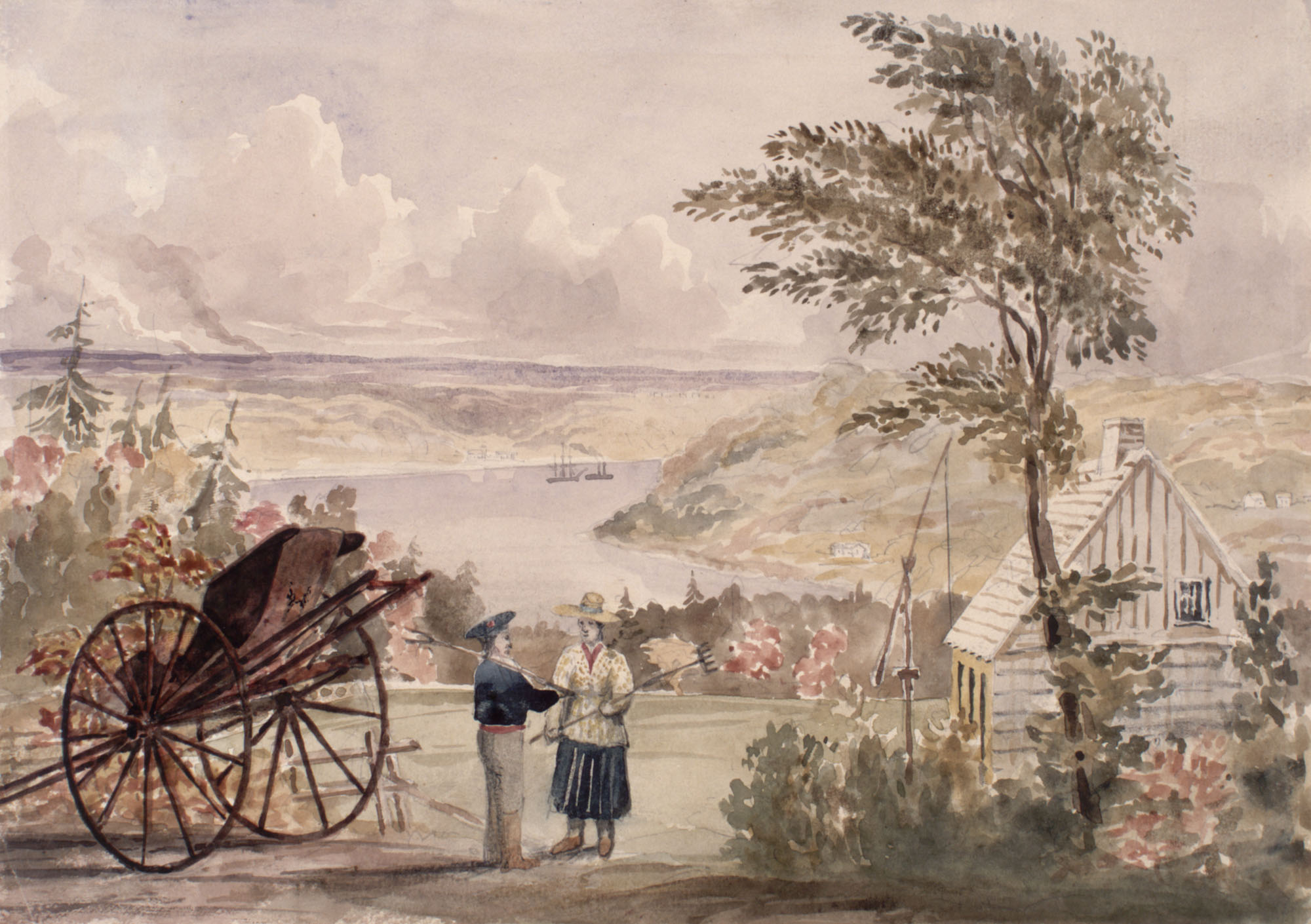 View near Cap Rouge on the River St. Lawrence, 1841. (item 1)