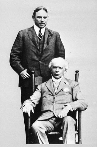 Portrait of Sir Wilfrid Laurier with W.L. Mackenzie King. (item 1)