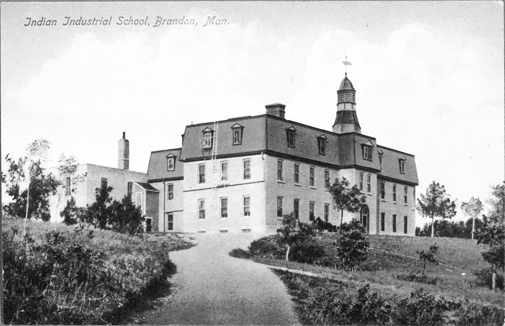 Brandon Indian Residential School, view from the driveway, ca. 1900−1910