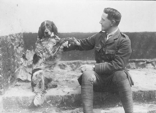 "John ""Jack"" McCrae and his dog, Bonneau"