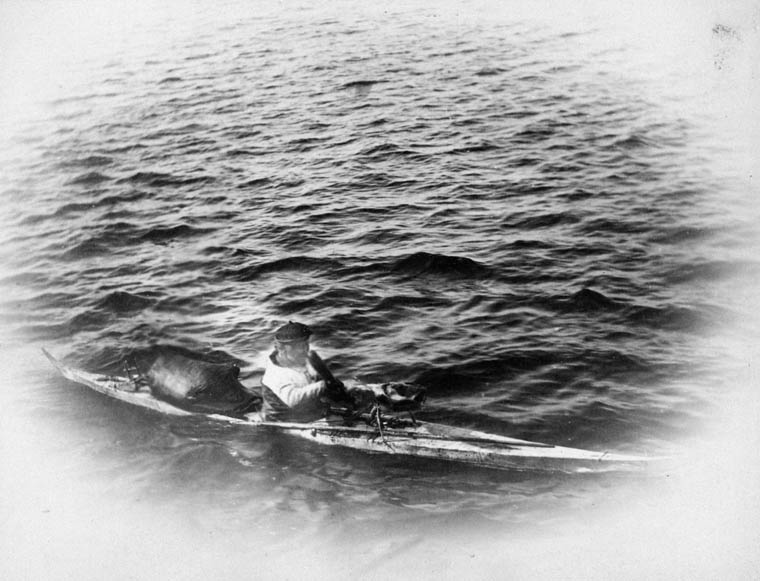 Kayak, off Greenland, June 1889. (item 1)