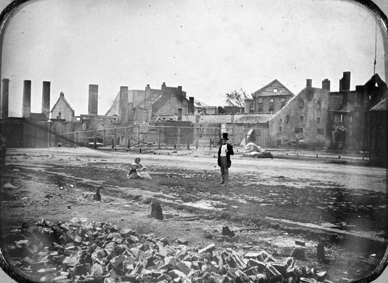 Molson family brewery after the fire of 1858. (item 1)