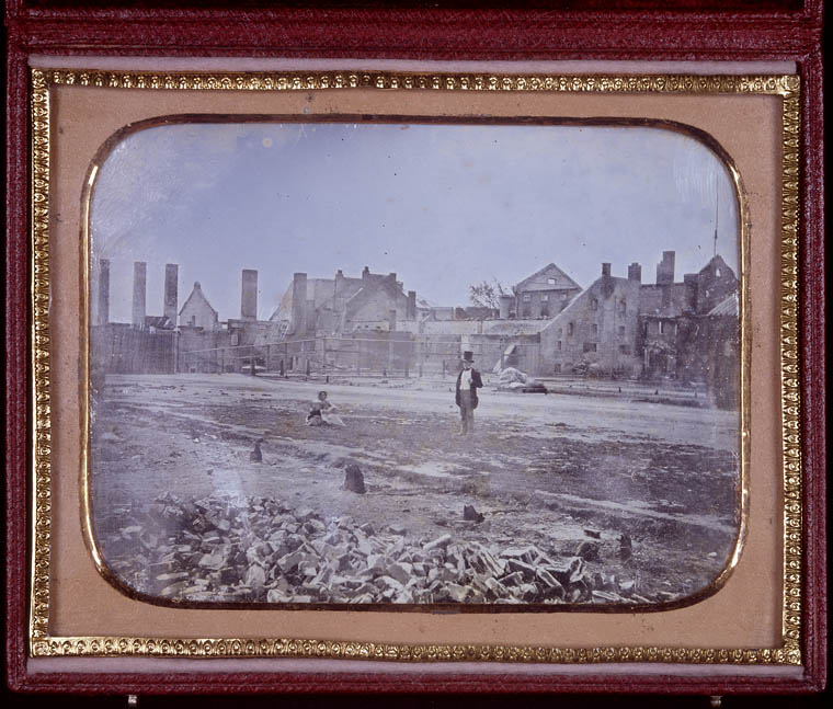 Molson family brewery after the fire of 1858. (item 2)