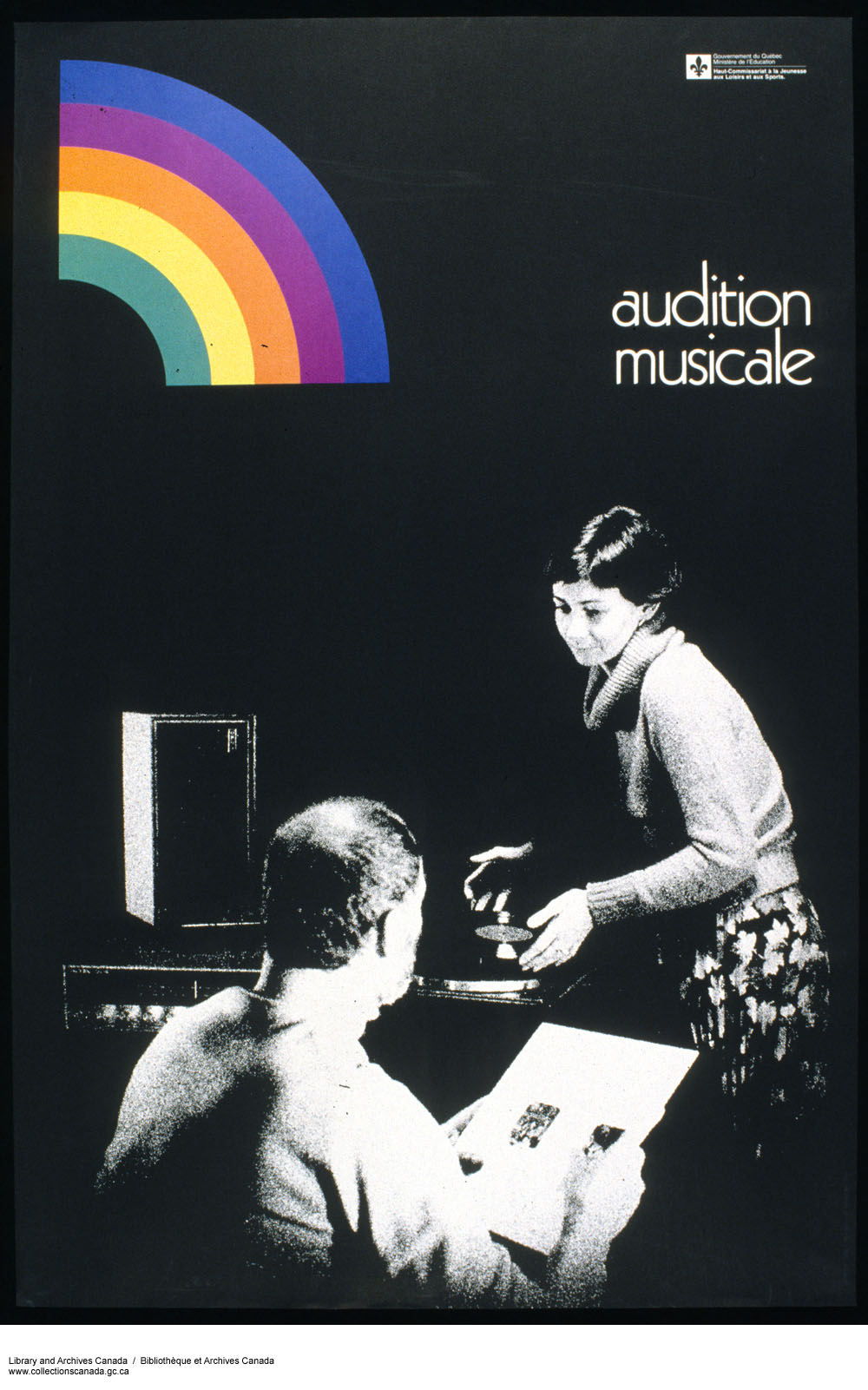 Audition musicale :  advertisement poster for government of Quebec. (item 1)