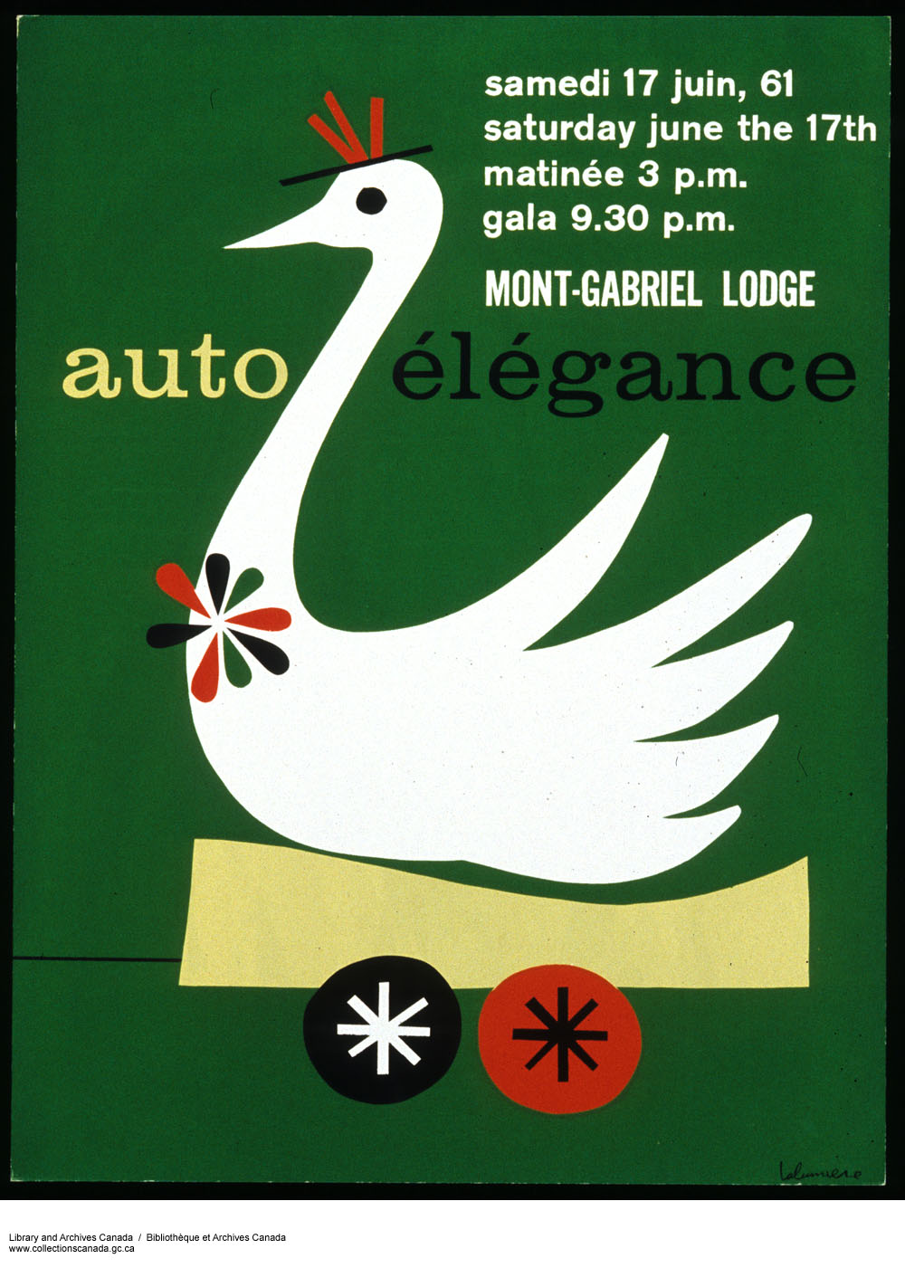 Auto-élégance :  gala performed in 1961. (item 1)