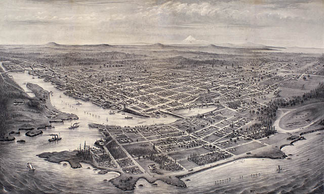 Bird's-eye view of Victoria, Vancouver Island,. (item 1)