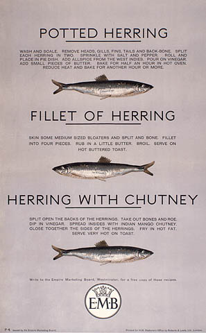 Potted Herring - Filet of Herring - Herring with Chutney :  three ways to cook herring. (item 1)