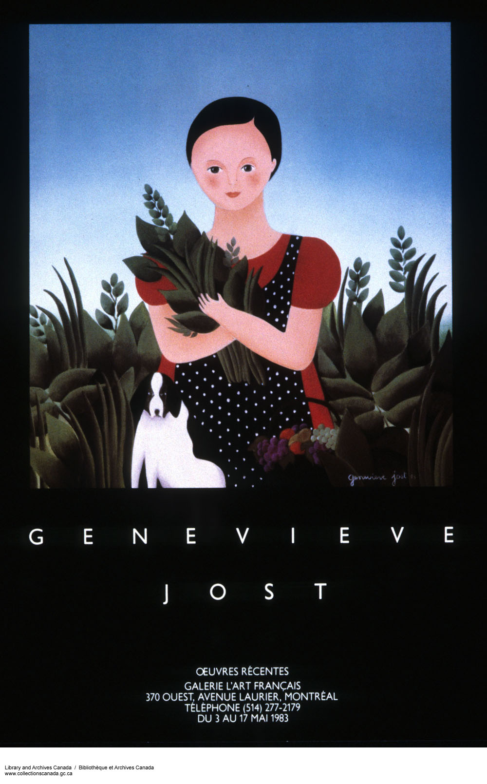 Geneviève Jost, Oeuvres récentes :  exhibition presented at the Galerie L'art français in 1983. (item 1)