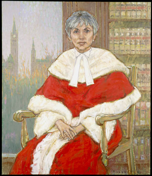 Painting, oil on canvas, of the Right Honourable Beverley McLachlin, Chief Justice of Canada, 2002.