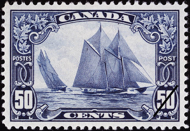 50 cent stamp issued January 6, 1929. Copyright: Canada Post Corporation