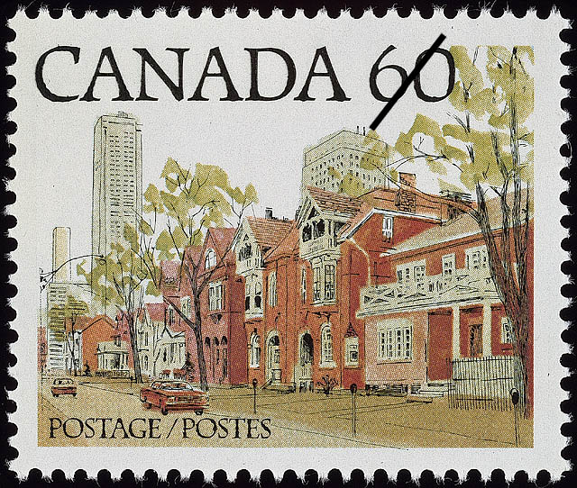 [A street scene in an Ontario city] [philatelic record]. (item 1)